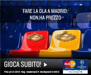 Vinci biglietti finale Champion League 2009: concorso Mastercard